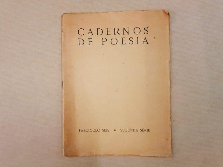 CADERNOS DE POESIA – fascículo seis, segunda série, 1951