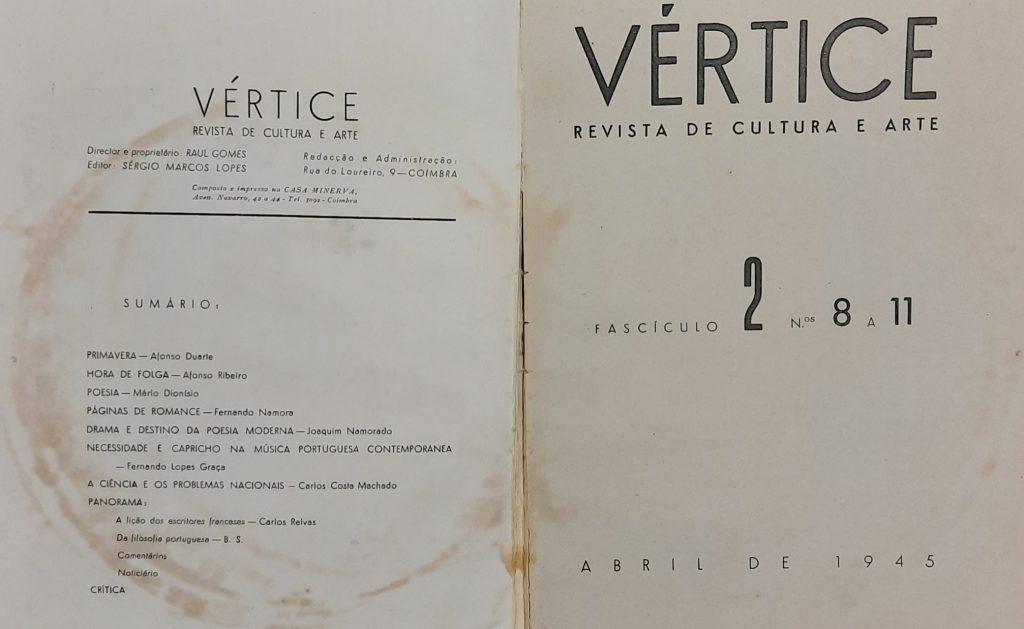 Revista Vértice | Fascículo 2, números 8 a 11, Abril de 1945
