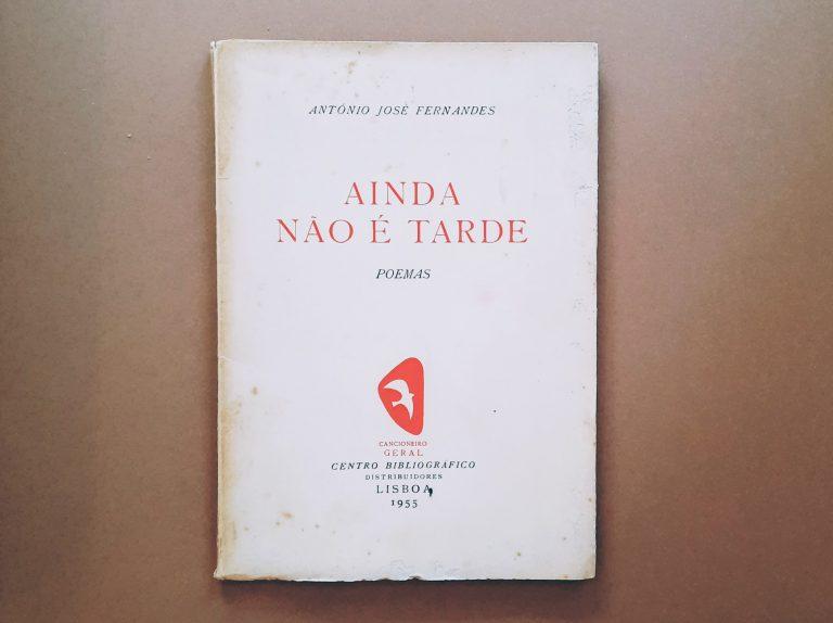 AINDA NÃO É TARDE | António José Fernandes