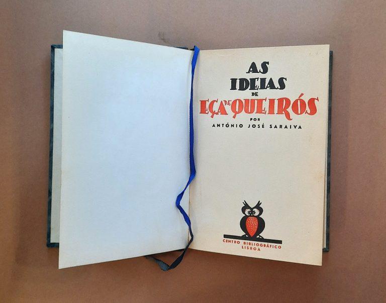 AS IDEIAS DE EÇA DE QUEIRÓS | António José Saraiva