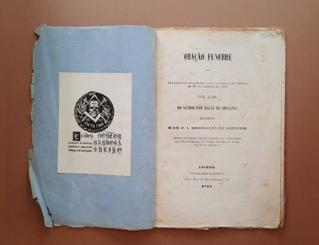 Oração fúnebre por alma do senhor Dom Miguel de Bragança (1867)