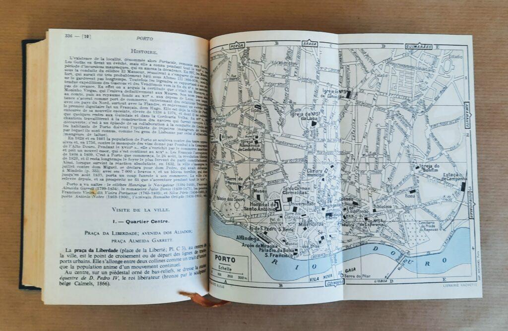 Portugal Madère Açores - guia Hachette: mapa do Porto